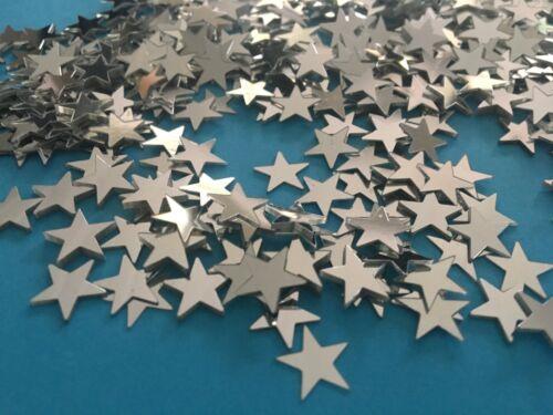 50 kleine Silber Sterne Basteln Dekorieren Party Weihnachten Glitzer Tischdeko