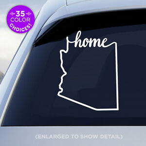 Arizona-State-034-Home-034-Decal-AZ-Home-Car-Vinyl-Sticker-Add-a-heart-over-a-city