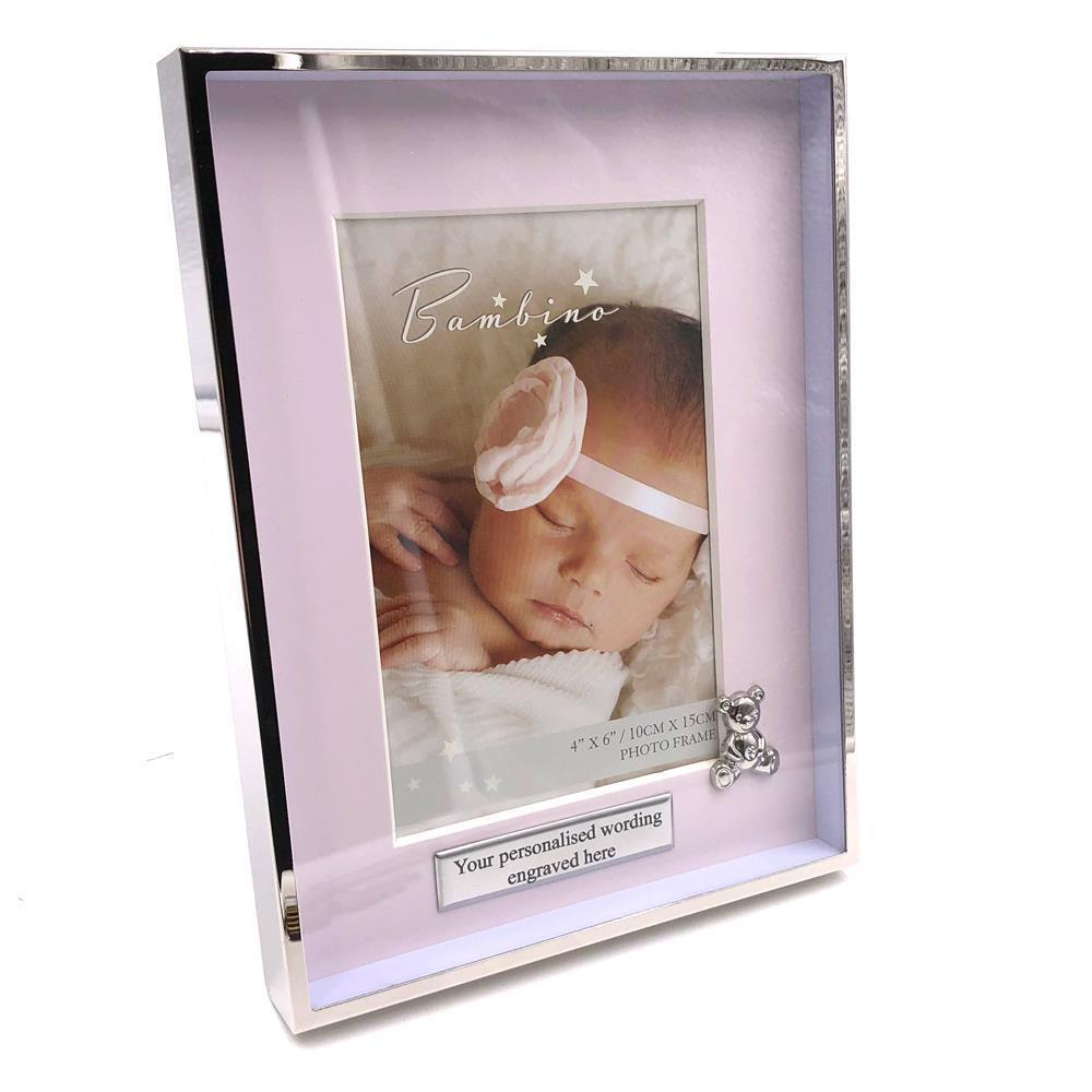 """Pink CG1380P Silverplated Castle Photo Frame 4/"""" x 6/"""""""