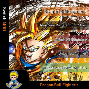Dragon-Ball-FighterZ-Switch-Mod-Max-Zeni-Z-Coin-EXPs-Unlock-All-Characters