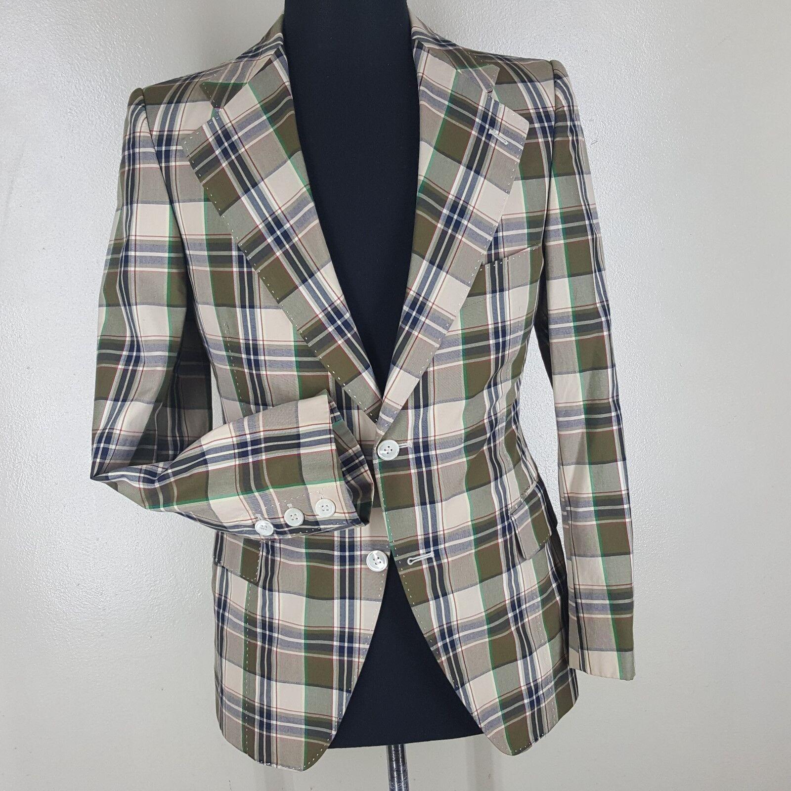 JUNYA WATANABE Comme De Garsons Recent 100% Cotton Blazer 2 Btn  Fit 35-37 Short