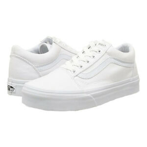 acb8be819a Details about Vans Old Skool True White Classics Skate Shoe Unisex Sneakers