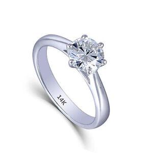 14K-Fine-White-Gold-1ct-Heart-Arrows-Cut-Moissanite-Solitare-Engagement-Rings