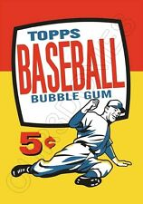 1957 Topps Wax Pack Wrapper Store Counter Standup Sign Repro Frank Robinson