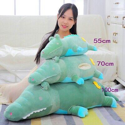 Green Crocodile Soft Hand Warm Plush Toy Stuffed Animal Cushion Sleeping Pillow