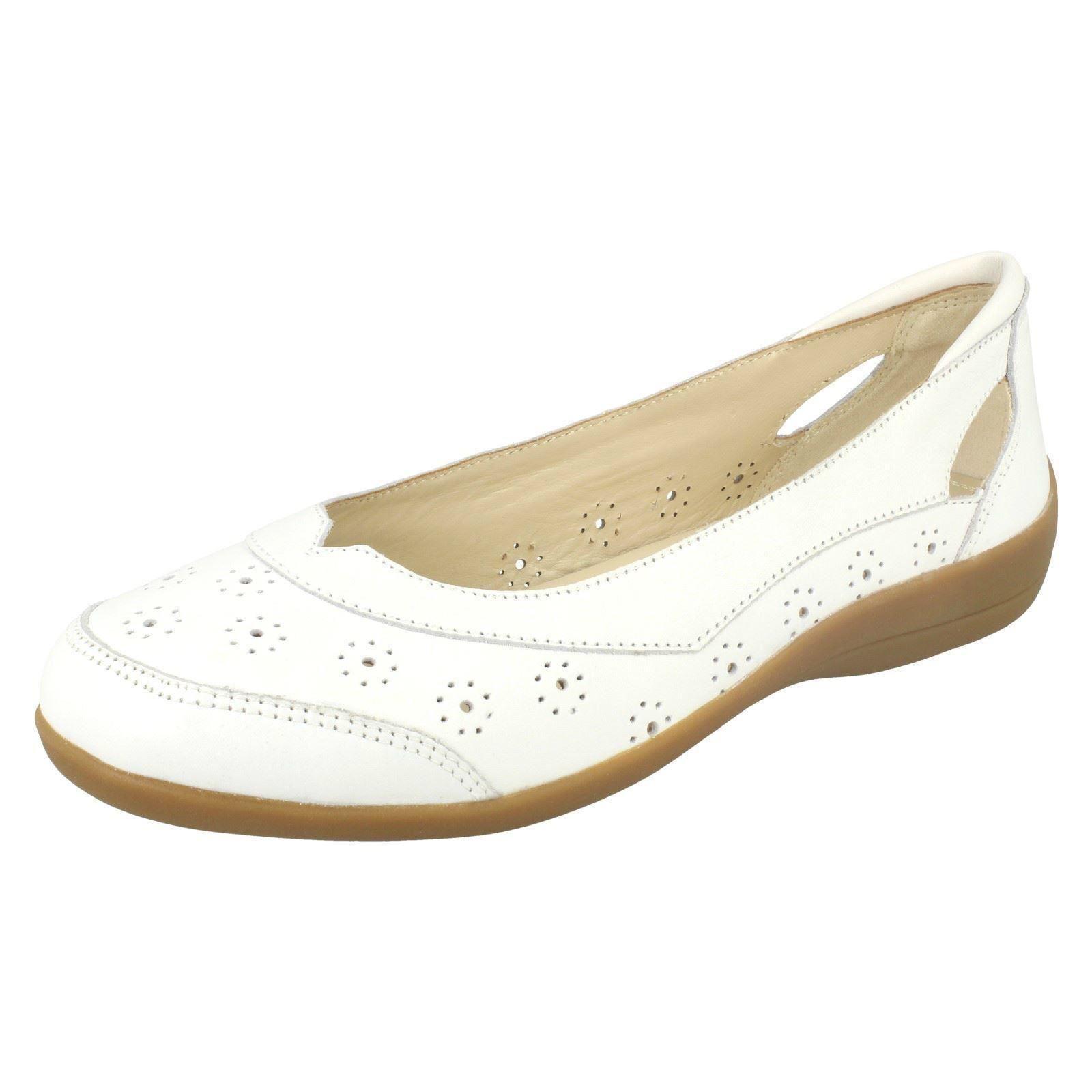 Mujer Padders Corte Ancho Plano Zapatos de Cuero Semi Semi Semi  comprar ahora