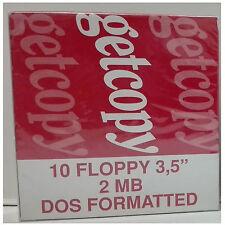 10 floppy disk 2 MB getcopy DOS formatted (confezione da 10)