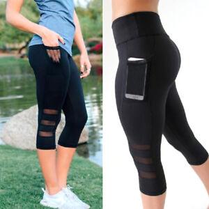 48c2e52a2ec0c Women Yoga Pants Gym Sport Leggings Running Fitness Stretch Trousers ...