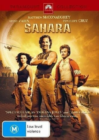 1 of 1 - Sahara (2005) Matthew McConaughey - NEW DVD - Region 4