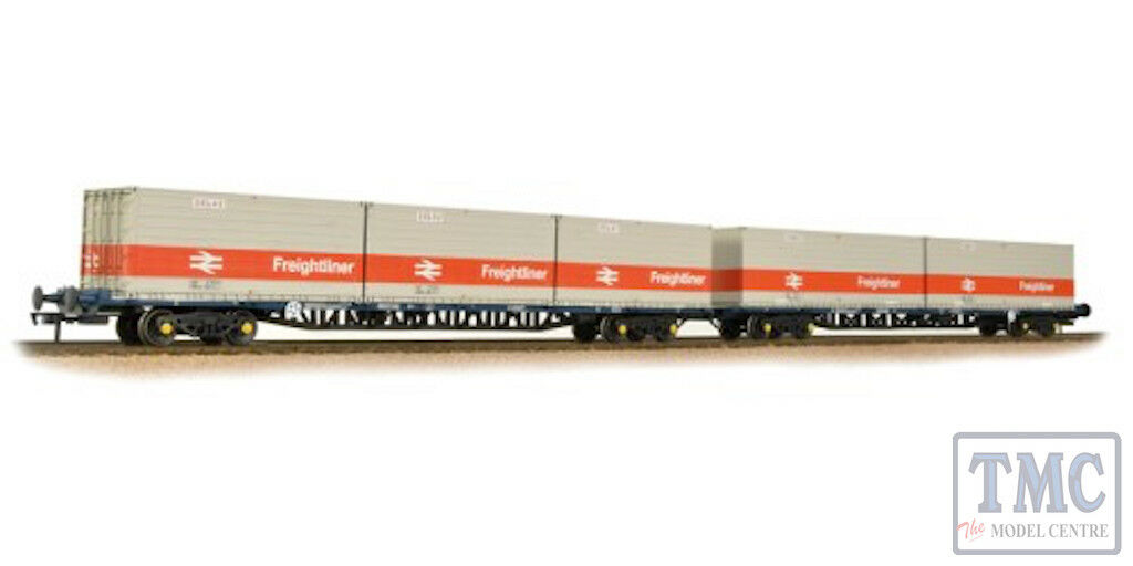 38-625 Bachmann OO FGA BR Freightliner Outer Container Flats(x2) ISO Containers