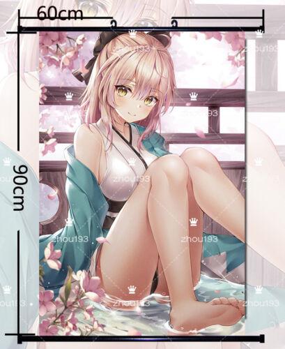 Fate//Grand Order Okita Souji Wall Scroll Poster Home Decor Art Gift 60*90cm#0125