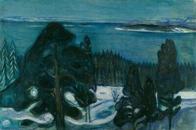 Expressionism 1900 Symbolism Art Poster Winter Night EDVARD MUNCH