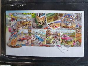 AUSTRALIA-2013-ROAD-TRIP-AUSTRAIA-5-STAMP-MINI-SHEET-FDC-FIRST-DAY-COVER
