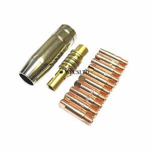 10x0.6mm MIG TIP + MB15 MIG Buse Carénage SIP Draper Clarke etc Compatable-afficher le titre d`origine CLBVkObX-07135208-389165645