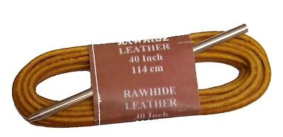 """1 NEW. PAIR 42/"""" by 1//8/"""" Dark BROWN COLOR RAWHIDE LEATHER  SHOE//BOOT LACES."""