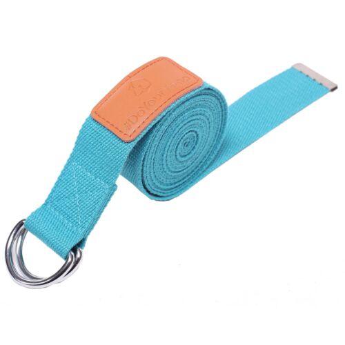 3m Yoga Gurt Fitness Stretch Gürtel Gymnastik Pilates Belt Metall-Verschluss