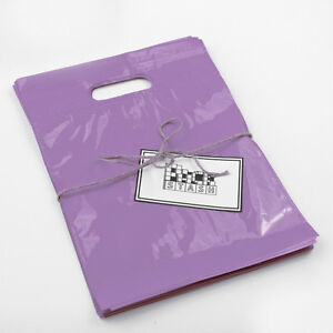 Details About 100 9x12 Lilac Purple Plastic Retail Cut Handle Merchandise Bag Boutique