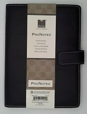 Blue Sky Pro Notes Black Notebook Planner Faux Leather 11224 8 12 X 5