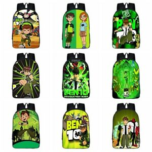 Ben 10 Boy Cartoon 3D Print Children Travel School Backpacks Boys Bags V35