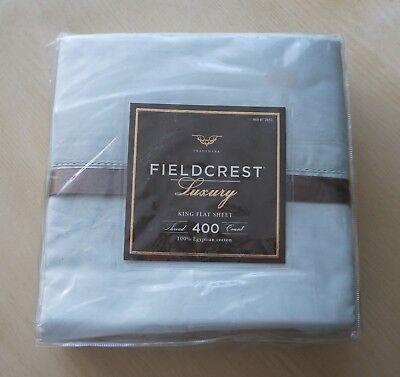 Fieldcrest Luxus 400 Fadendichte King Flache Platte Ägyptische Baumwolle Bettwäschegarnituren Bettwäsche