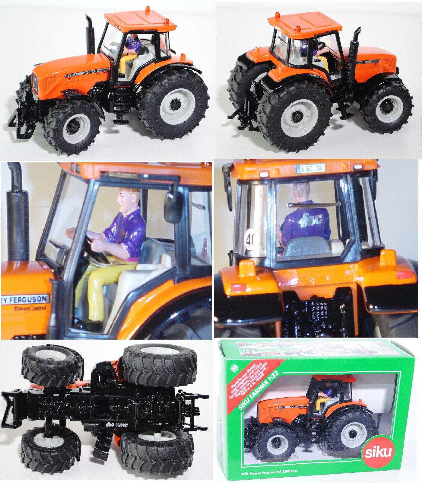 Siku Farmer 3251 Massey Ferguson MF 8250 XTRA Trattore, 1 32, SSC modello speciale