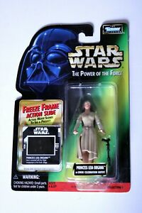 Kenner-1997-Star-Wars-POTF-Princess-Leia-in-Ewok-Outfit-w-Green-Backer-NIB