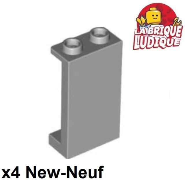 Lego® 4 x Panel Wandelement Fenster 1x2x3 schwarz NEU 87544