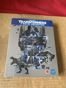 TRANSFORMERS 5 MOVIE COLLECTION UK Reg Free Blu Ray STEELBOOK NEW & SEALED