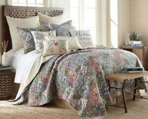 Coverlet Quilt 100/% Cotton No Polyester BedSpread Queen 230x230 Country Blue