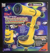 E Science 2 In 1 Convertible Telescope Amp Microscope Set New Open Box