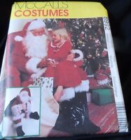 Santa Claus Costume, Bag, & Doll Pattern Mccall's 8992 Size 38-40 Uncut Ff