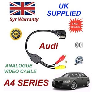 For AUDI A4 2012 AMI MMI 4F0051510N RCA PHONO Audio Video Cable