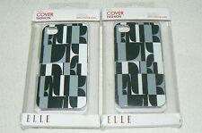 Lot de 2 coques de protection ELLE etui cover fashion pour APPLE IPHONE 4 et 4S