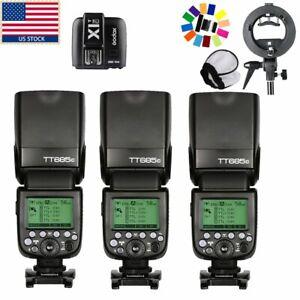 US-Godox-TT685C-1-8000s-E-TTL-HSS-2-4G-Wireless-Flash-Speedlite-Trigger-f-Canon
