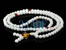 "26"" Deep Sea Tridacna Shell 砗磲 Prayer Beads Yoga Mantra Meditation Buddist Mala"