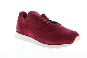 Reebok-Classic-Leather-DV8508-Womens-Red-Suede-Lifestyle-Sneakers-Shoes-9-5