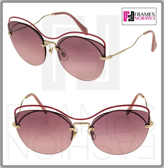 af7b4920258f Frequently bought together. MIU MIU SCENIQUE Oversized 50T Gold Red Pink  Gradient Sunglasses ...