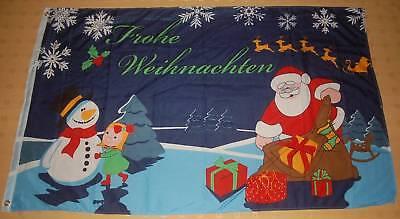 60 x 90 cm Fahnen Flagge Frohe Weihnachten Schneemann