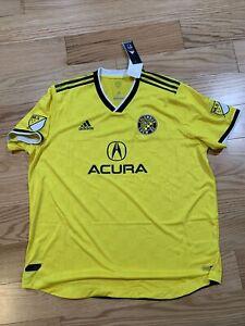 Details about Adidas MLS COLUMBUS CREW SC HOME AUTHENTIC JERSEY Sz XXL BNwT DP2985 Soccer