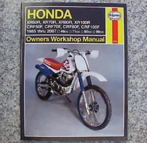 1985 2007 honda xr crf 50 70 80 100 xr50 xr70 xr80 xr100 crf50 rh ebay com 2002 honda xr50 service manual 2013 Honda XR50
