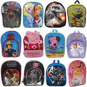 Image is loading DISNEY-AND-CHARACTER-CHILDRENS-BACKPACKS-RUCKSACKS -SCHOOL-BAGS- c5932e60e2