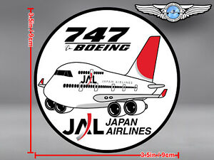 JAL JAPAN AIRLINES ROUND PUDGY BOEING B747 IN OLD LIVERY ROUND DECAL / STICKER