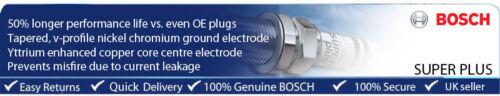 VOLKSWAGEN Polo 1.2 53BHP 01-04 BOSCH Yttrium Super Plus Spark Plug 51