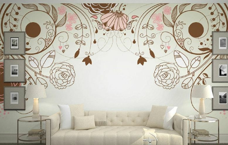 3D Flower Vine Pattern Wall Paper Wall Print Decal Wall Deco Indoor Murals