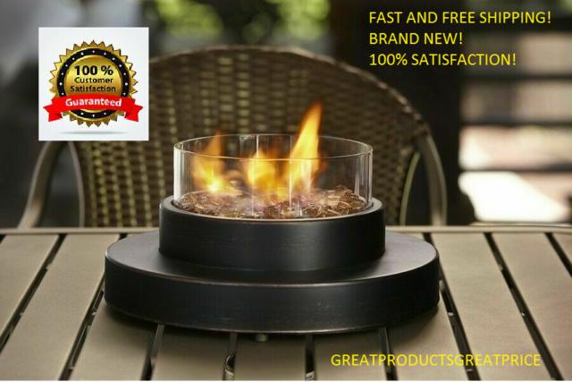 Propane Fire Pit Tabletop Outdoor Patio Heater 6000 BTU Portable Fire Bowl