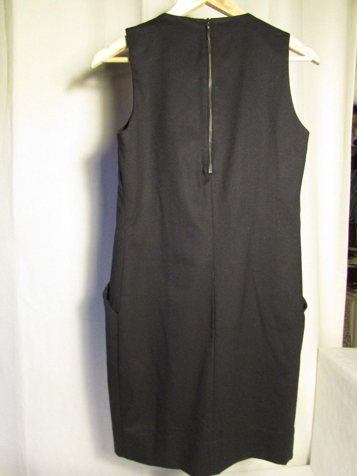 Dress SANDRO wool navy navy navy bluee size 2 69c9b1