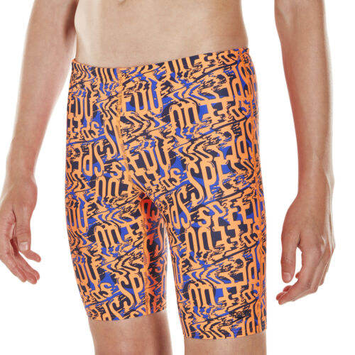 SPEEDO BOYS JAMMERS.ELECTRIC SPRITZ ENDURANCE SWIM SHORTS LONG SWIMMERS 8S 185