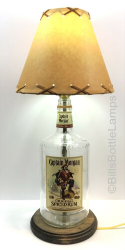 Captain Morgan 1.75L Liquor LAMP Package w// Laced Shade /& White LED Bulb