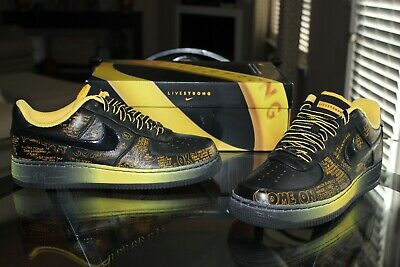 Deadstock Nike Air Force 1 Low Busy P Livestrong Supreme 378367 001 Size 11 | eBay
