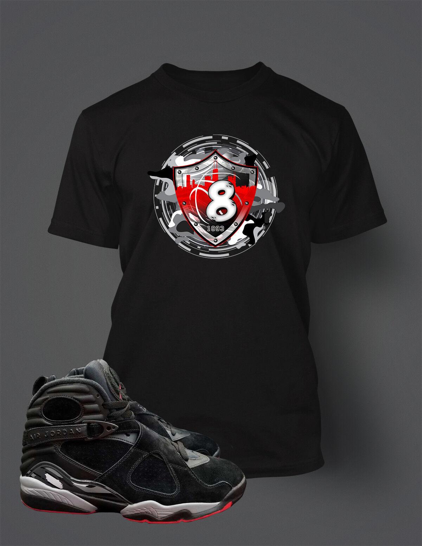 T Shirt To match AIR JORDAN 8 ALTERNATE BRED shoes Men's Tee Shirt Graphic Tee